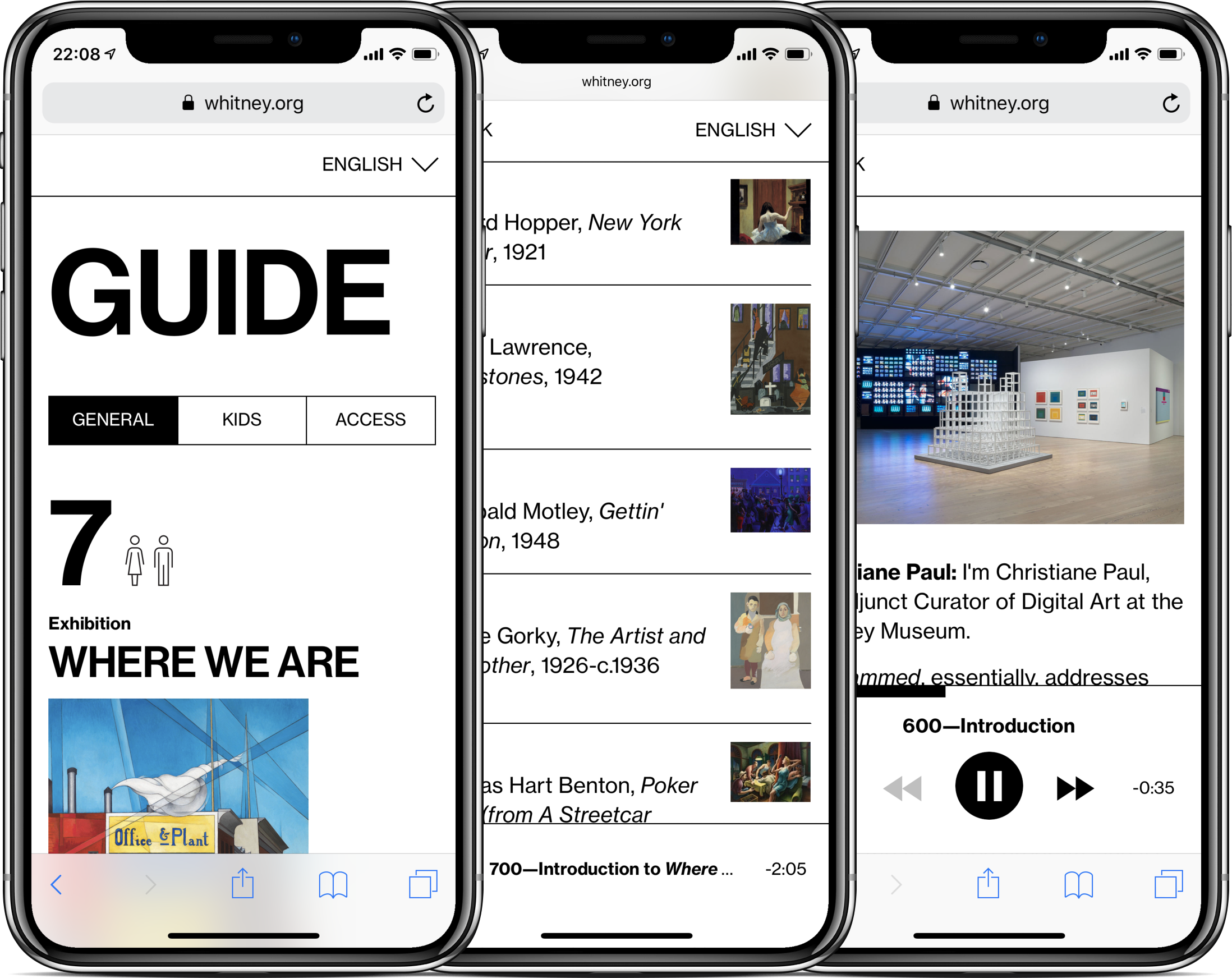 The Whitney's Mobile Guide