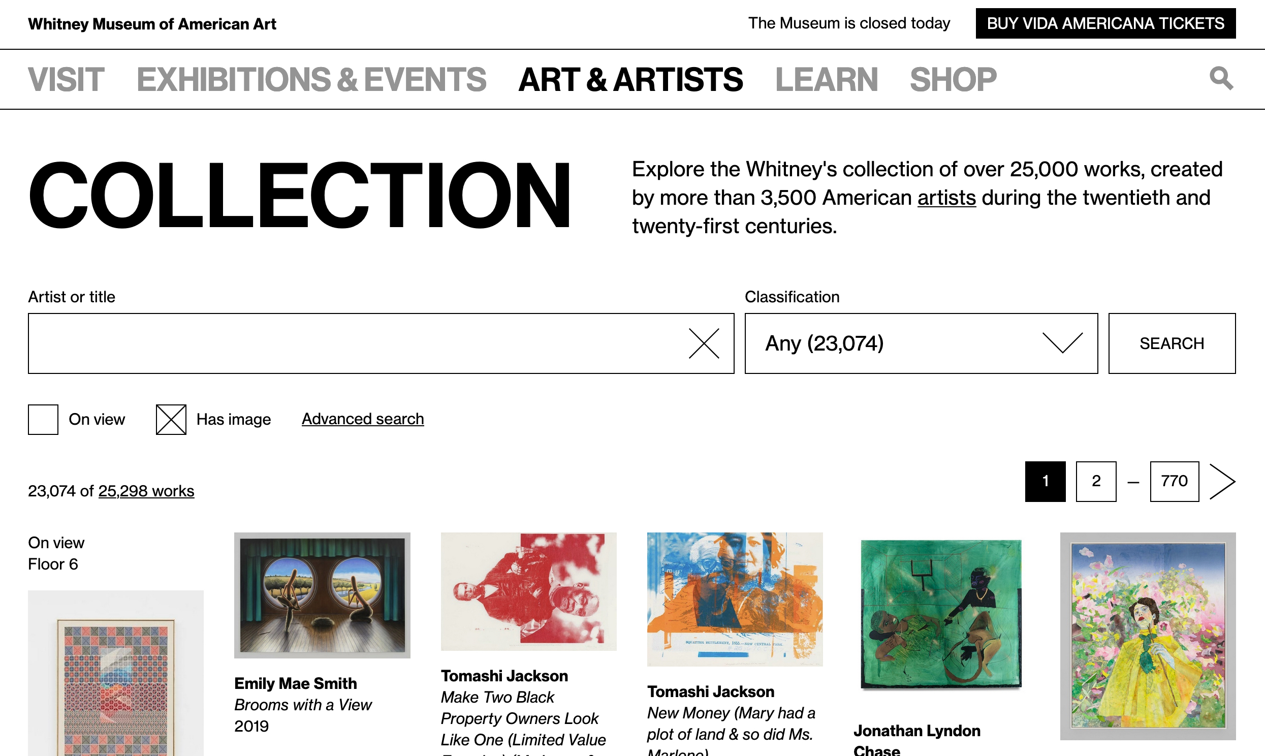 Relaunching the Whitney's Online Collection…again